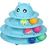 Cat Toy Roller Cat Toys 3 Level Towers Tracks Roller with Six Colorful Ball Interactive Kitten Fun Mental Physical Exercise Puzzle Toys