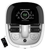 Comfortology Foot Spa Massager - Exclusive Circulating Heating System, 4 Motorized Massage Rollers, Whisper Quiet, Deep Bath Tub with Remote