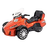 Multifit Kids 1: 16 Die Cast Racing Car Music Lighting ATV Pullback Toy Car Gift for Christmas Brithday(Orange)