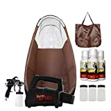 MaxiMist Lite Plus Pro HVLP Sunless Spray Tanning KIT Tent, Machine and Sunless Solution (Black)