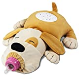 New Baby Gift Star Light Bottle Holder Animal toy & Nursery Night Light –Stimulating Pacifier Animal Crib Soother L Projector Plays Music With Sensor Baby Feeder - Puppy Makes Me Happy - Plush Stuffed
