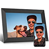 Jeemak Digital Picture Frame 10.1 inch WiFi Photo Frame with HD IPS Touch Screen Portrait or Landscape Stand Auto-Rotate Share Photos and Videos via App at Anytime and Anywhere