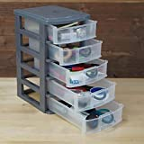 Massca 5 Drawer Storage Drawers and Personal Organizer, Heavy-Duty Plastic Containers for Storing Arts, Crafts, Sewing Accessories, Stationary, and T-Shirt Vinyl