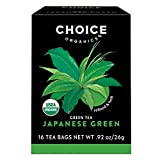 Choice Organics – Organic Japanese Green Tea (6 Pack) – Organic Green Tea – 96 Tea Bags