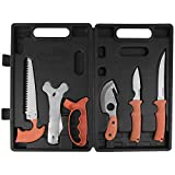 Maxam Mossberg Game Cleaning Set, for Hunters and Fishermen to Gut and Clean Their Kill, Fully Portable in a Durable Case, 7-Piece