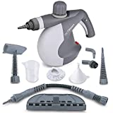 PurSteam World's Best Steamers Chemical-Free Cleaning PurSteam Handheld Pressurized Steam Cleaner with 9-Piece Accessory Set Purpose and Multi-Surface All Natural, Anthracite