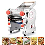 TOPCHANCES Pasta Maker, 220mm Automatic Electric Pasta Machine Noodles Press Machine Noodles Cutter with Clamp for Spaghetti Lasagna Tagliatelle, Width 2mm/6mm