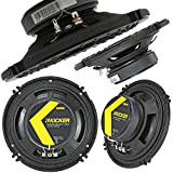 KICKER CS Series CSC65 6.5 Inch Car Audio Speaker with Woofers (2 Pairs)