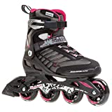 Rollerblade Zetrablade W - Women's Skate - 4x80mm/84A Wheels - SG 5 Performance Bearings - Black/Cherry  - US Women's Size 9