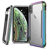X-Doria Defense Shield, iPhone XR Case - Military Grade Drop Tested, Anodized Aluminum, TPU, and Polycarbonate Protective Case for Apple iPhone XR, 6.1 Inch LCD Screen (Iridescent)