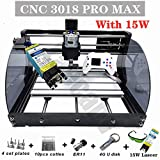 Upgrade CNC 3018 Pro MAX GRBL - 3 Axis PCB PVC Milling Router Engraving Machine with Protected Board - DIY Wooden Router Engraver Cutter Mini PCB Recorder Offline Support