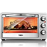 Toaster Oven 6 Slice Oven Toaster SpeedBaking, for Toast/Bake/Broil Function with 4 Heating Elements Intuitive Easy-Reach Toaster Oven Broiler, Stainless Steel Toaster Oven,Silver/Black