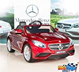 BIG TOYS DIRECT Mercedes-Benz S63 Ride on Car Kids RC Car Remote Control Electric Powered Wheels W/ Radio & MP3 Red