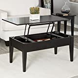 Coffee Tables (Gray Lift Top Rectangle Wood Cocktail Living Room End Table Side Modern Furniture