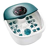 Foot Spa/Bath Massager with Heat, Bubbles, and Vibration, Digital Temperature Control, 16 Masssage Rollers with Mini Detachable Massage Points, Soothe and Comfort Feet