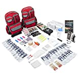 Emergency Zone 4 Person Family Prep 72 Hour Survival Kit/Go-Bag   Perfect Way to Prepare Your Family   Be Ready for Disasters Like Hurricanes, Earthquake, Wildfire, Floods   Now Includes Bonus Item!