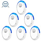 Ultrasonic Pest Repeller, 6 Packs, 2020 Upgraded, Electronic Indoor Pest Repellent Plug in for Insects, Mice,Ant, Mosquito, Spider, Rodent, Roach, Mosquito Repellent for Children and Pets' Safe
