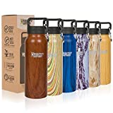 Healthy Human 32oz Insulated Stainless Steel Water Bottle Stein Cold 24 Hours / Hot 12 Hours -Harvest Maple