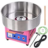 20' Pink 80W Tabletop Commercial Cotton Candy Machine GEN3 Electric Floss Maker Aluminum Heating Component Stainless Steel Scoop Built-In Fuse US Delivery