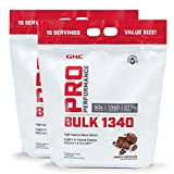 GNC Pro Performance Bulk 1340 - Double Chocolate, Twin Pack, 15 Servings per Pouch, Supports Muscle Energy and Recovery