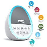 AIRSEE White Noise Machine - Portable Sound Machine with 29 Non-Looping Soothing Sounds for Sleeping, Sleep Sound Therapy for Kids, Adults and Travel