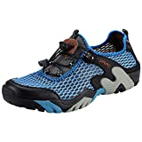 Padcod Hiking Shoes Men Boating Water Trail Footwear Climbing Hiking Outdoor Sneakers Sports Running Road Walking Athletic Shoes Casual Mesh Breathable Black