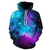 Azuki Unisex Galaxy 3D Digital Printed Pullover Hoodies Lovers Hoodies-Size M