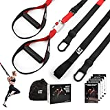 RitFit Bodyweight Resistance Training Kit with Integrated Door Anchors and Extension Strap, Fitness Straps for Total Body Workouts, Home & Travel, Workout Guide Included, Get Fitter and More Powerful