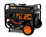 WEN DF475 4750-Watt 120V/240V Dual Fuel Portable Generator with Wheel Kit and Electric Start-CARB Compliant