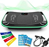 Bluefin Fitness 4D Triple Motor Vibration Plate | Powerful | Magnetic Therapy Massage | Curved Surface | 4.0 Bluetooth Speakers | Vibration Oscillation & Micro Vibration | 3 Silent Drive Motors