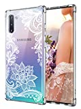 Cutebe Case for Galaxy Note 10, Shockproof Series Hard PC+ TPU Bumper Protective Case for Samsung Galaxy Note 10 2019 Release Crystal Lace Design