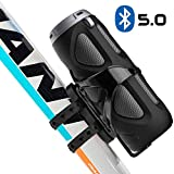 Avantree WP400 Portable Bluetooth 5.0 Bike Speaker with Bicycle Mount & SD Card Slot, 10W Powerful Enhanced Bass & Wireless NFC Pairing, Splash Proof, Shockproof & Dustproof for Riding Outdoor