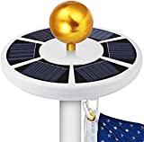 PISSION Flag Pole Lights Solar Powered, American Flag Pole Light Weatherproof Auto ON/Off Night Light Downlight for 15 to 25ft Flag Pole