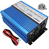 AIMS 600 Watt, 1200 Watt Peak, Pure Sine DC to AC Power Inverter, USB Port, 2 Year Warranty, Optional Remote, Listed to UL 458