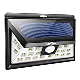 LITOM Original Solar Lights Outdoor, 3 Optional Modes Wireless Motion Sensor Light with 270° Wide Angle, IP65 Waterproof, Easy-to-Install Security Lights for Front Door, Yard, Garage, Deck