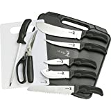 Elk Ridge - Outdoors Hunting Knife Set - Game Processing Kit - 9-PC Set, Includes Cutting Board and Hard Sided Storage Case - Hunting, Camping, Survival, ER-190
