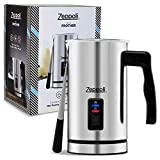Zeppoli Milk Frother and Warmer - Automatic Milk Heater, Electric Milk Steamer and Milk Foamer | Great as a Latte Frother and Cappuccino Maker for Coffee and Hot Chocolate - Plus Silicone Scraper