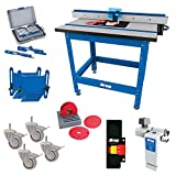 Kreg Router Table Fence, Router Table Top with Stand, Featherboard, 3' Dual Locking Caster-Set, 4 Piece, Set Up Bars,Twist-Loc Ring Set, 5-Piece,Router Table Stop and Multi-Purpose Router Table Switch