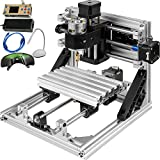 Mophorn CNC 1610 CNC Machine GRBL Control CNC Router Kit 3 Axis with Offline Controller Goggles and Table Lamps Milling Machine for Wood PVCs PCBs(1610,Offline Controller)