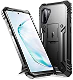 Poetic Galaxy Note 10 Rugged Case with Kickstand, Heavy Duty Military Grade Full Body Cover, Without Built-in-Screen Protector, Revolution Series, for Samsung Galaxy Note 10 (2019), Black