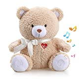 Baby Cry Sensor Honey Bear by BEREST Baby Sleep Soother Sleeping Aid White Noise Machine Infant Slumber Buddies Bear Toy, Nursery Decor with Night Light, Mom's Heartbeat 4 Sounds Therapy