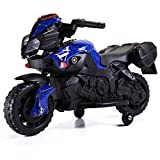 TOBBI 6V Kids Ride On Motorcycle Car Battery Powered 4 Wheel Bicycle Electric Toy Blue