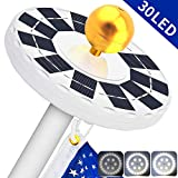 LBELL Solar Flag Pole Light 30 LED Flag Pole Lights Solar Powered Night Light- Flagpole Downlight Lighting for 15 to 25 Ft Top Auto On/Off, Energy Saving LEDs (White)