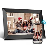 Jeemak Digital Picture Frame 10.1 inch WiFi Photo Frame with HD Touch Screen Auto-Rotate Share Photos and Videos via App at Anytime and Anywhere