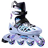 AILUNHUA Adult/Youth Inline Skates Adjustable Outdoor Speed Roller Skates Inline Skates for Men/Women/Boys/Girls/Ladies/Children Valentines Couple Inline Skates