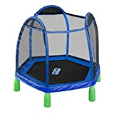 Sportspower My First Trampoline, 84 Inch Heavy Duty Outdoor Children's Bouncer With Safety Net Enclosure