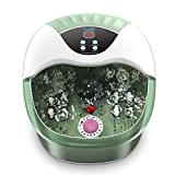 Turejo Foot Spa Massager - Heated Bath, 14 Massage Rollers, Foot Stone, Bubbles, Digital Adjustable Temperature Control, Red Light, Medicine Box