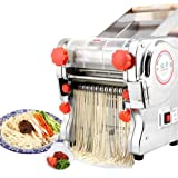 110V Electric Pasta Maker Machine, Noodle Cutter Machine, Pasta Roller and Cutter Set Perfect for Spaghetti, Fettuccini, Lasagna or Dumpling Skins Heavy Duty Steel Construction (110V Pasta Maker)