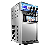 ixaer DHL FAST DELIVERY Commercial Ice Cream Machines, Commercial small desktop soft ice cream making machine, 110V / 60Hz low power ice cream machine with US plug (grey)