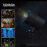 Blinblin Christmas LED Laser Light Projector, Red & Green Raindrop Spotlight Waterproof Outdoor Indoor Party Decorations Landscape Lights for Halloween Easter Birthday Garden Party (CMF-A101)